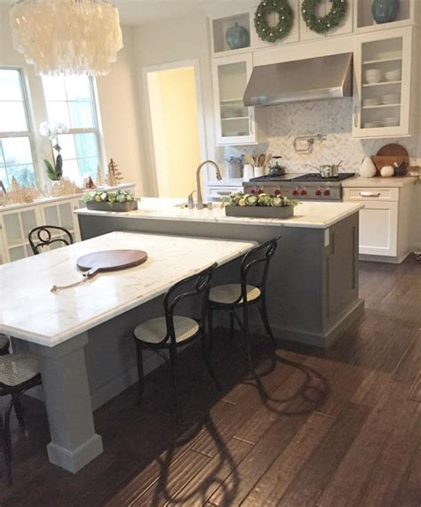 Table Height Kitchen Island This Island Kitchen My House Of Four Instagram Kitchens Island Kitchen