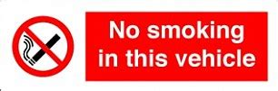 no smoking sign for car van driver fined 163 200 for not displaying no smoking sign