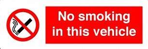 no smoking sign car van driver fined 163 200 for not displaying no smoking sign
