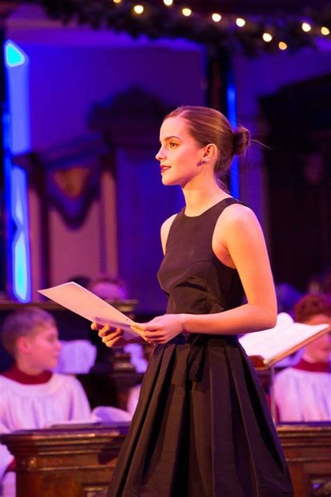 emma watson reading emma reading at the story of christmas concert at st