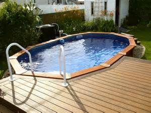 Decks With Above Ground Pools by Patio Plus Deck De Piscine
