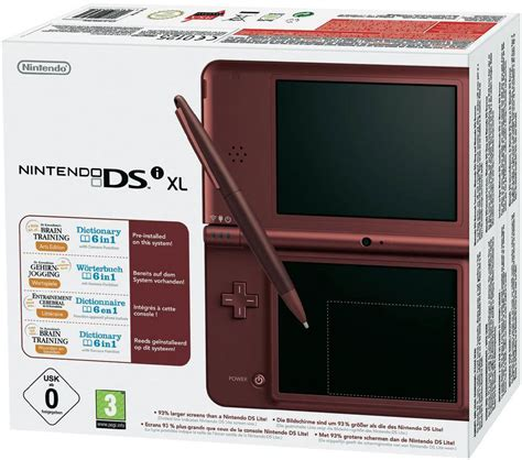ds xl console console nintendo dsi xl bordeaux ds r 233 f 233 rence gaming