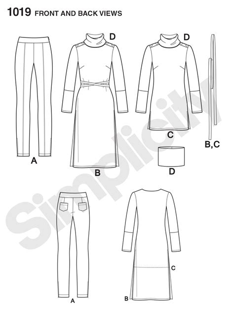 pattern review best patterns 2015 simplicity 1019 misses knit tunic and pintuck pants from
