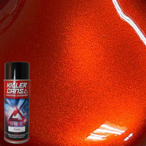 alsa refinish 12 oz orange killer cans spray paint kc or the home depot