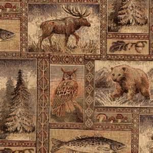 yellowstone golden fabric wildlife tapestry fabric