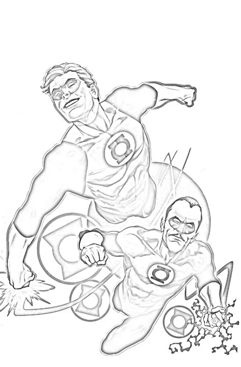 Green Lantern Coloring Pages Free Printable Coloring Green Lantern Coloring Pages