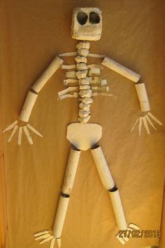 How To Make A 3d Human Out Of Paper - human skeleton stencil size human skeleton template