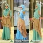 Baju Atasan Muslim Princes Maxy Murah baju gamis kezzia princess layer brokat koleksi busana