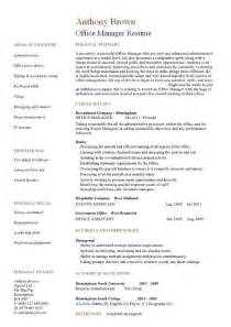 Dental Cv Template by Dental Office Manager Resume Sle Sle Resumes