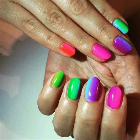 multi colored nails multi coloured nails new trend and best designs ladylife