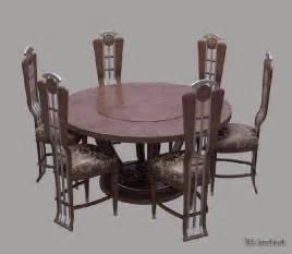 Dining Table Model Dining Tables And Chairs 3d Model Free 3d Land Net