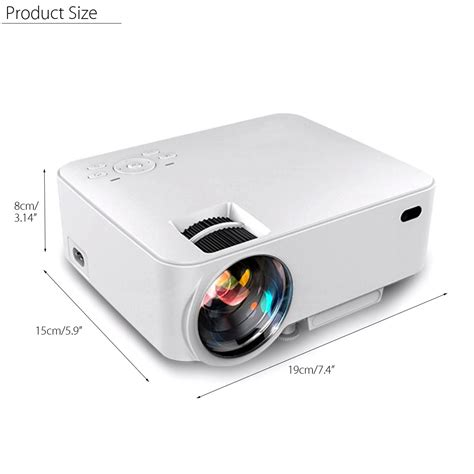 Lcd Proyektor Wifi t20b mini 8g wireless wifi 1500 800 215 480 android lcd projector home theater for cell phone tv pc