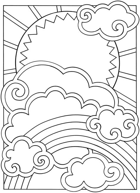 free coloring pages of sun moon and stars