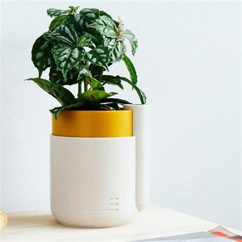 small self watering pots free self watering planter small stl model cults