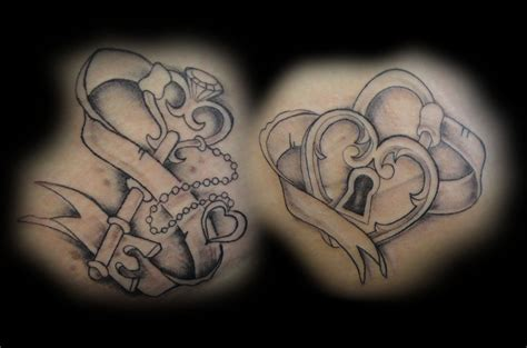 heart and key couple tattoos 30 lock and key ideas to unlock your