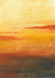 water color sunset watercolor sunset much white paper
