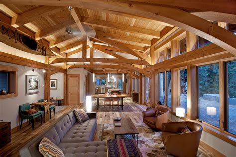 timber frame home interiors new energy works pertaining to