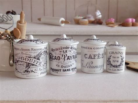 vintage style kitchen canisters vintage style kitchen metal canisters for dollhouse