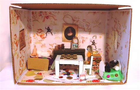 printable living room diorama make and take room in a box elizabeth farm sydney
