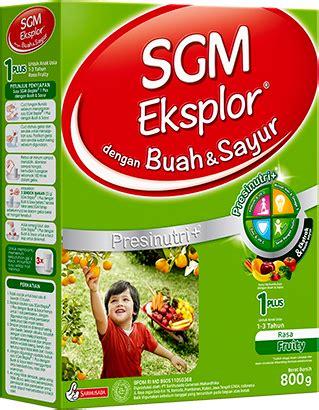 Sgm Buah Dan Sayur Sarihusada Sgm Eksplor 1plus Dengan Buah Sayur