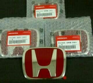 Murah Emblem Logo Honda Crv Depan Belakang jual harga logo emblem honda merah mobilio jazz rs
