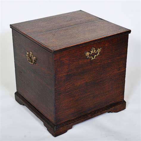 Box Stool by 19th Century Oak Box Stool Elaine Phillips Antiques
