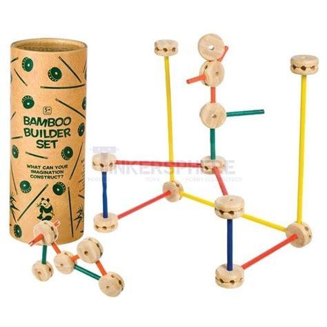 bamboo builder mini wood tinkertoy set tinkersphere