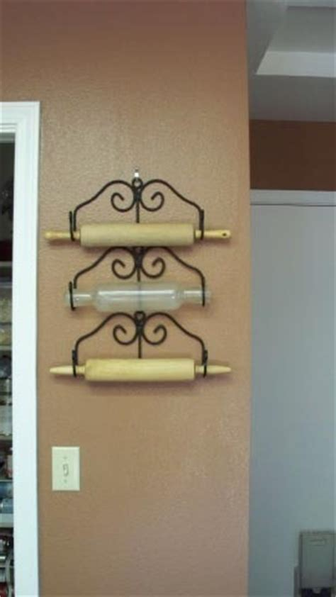 Rolling Pin Rack Display by Rolling Pin Holder Display Rack Wrought Iron