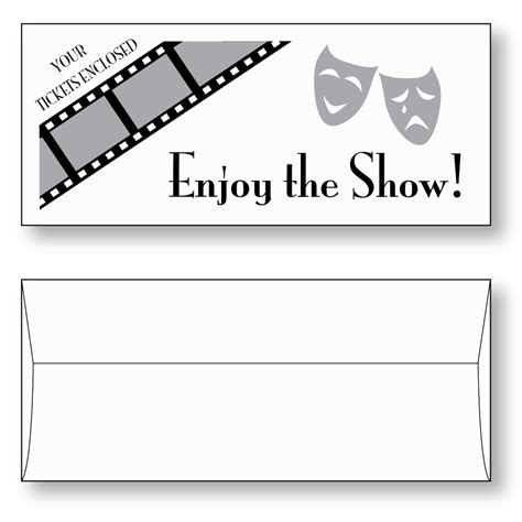 Style Envelope ticket envelope style a 3 quot x 7 quot ticketmaster 174 sheppard