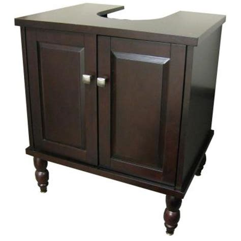 cabinets for pedestal bathroom sinks sinkwrap 25 in w x 20 in d vanity cabinet only for pedestal sinks in espresso lpv