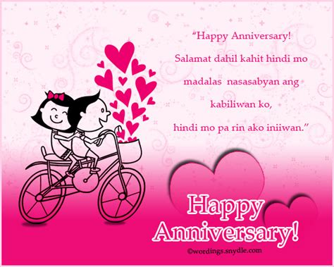 Wedding Anniversary Message Urdu by Tagalog Happy Anniversary Messages And Wishes Wordings