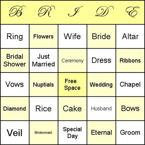 Wedding Card Generator by Bridal Bingo Template Cyberuse