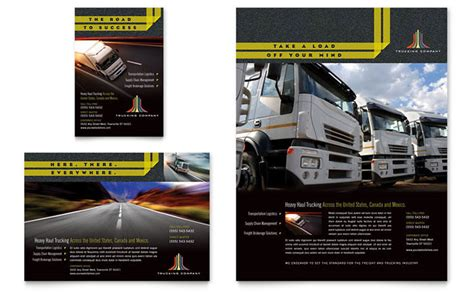 transport business cards templates free trucking transport flyer ad template design