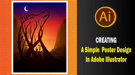 poster layout ai creating a simple poster design in adobe illustrator youtube