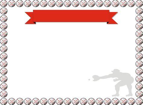 baseball border for word