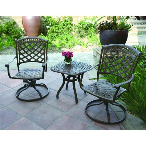 shop darlee sedona 3 aluminum patio conversation set