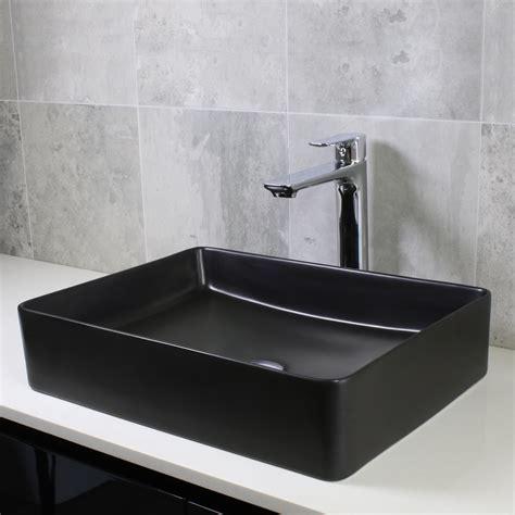 Black Cielo Rectangle Basin   Design Tiles