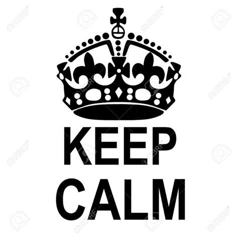 Keep Calm Black keep calm crown clipart black and white clipartxtras