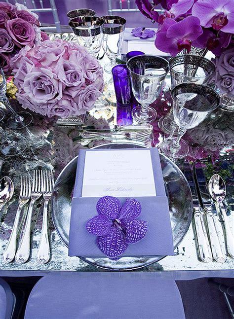 wedding table settings purple wishahmon wedding reception place settings