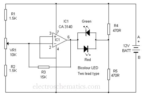 high voltage led indicator circuit three state voltage indicator circuit