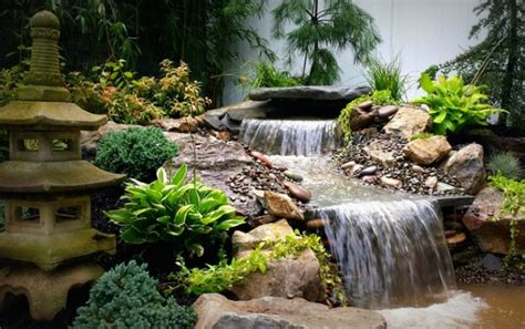 pond waterfall decorations house exterior and interior