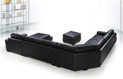 sectional sofas black vg rz modern black sectional sofa leather sectionals