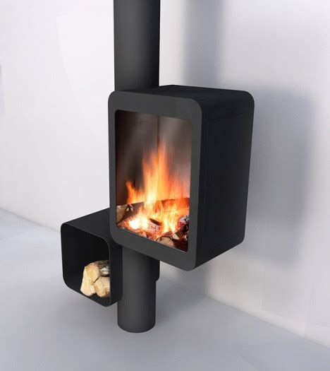 idea for wood furnace design modern streamlined wood stove puts the focus on the fire