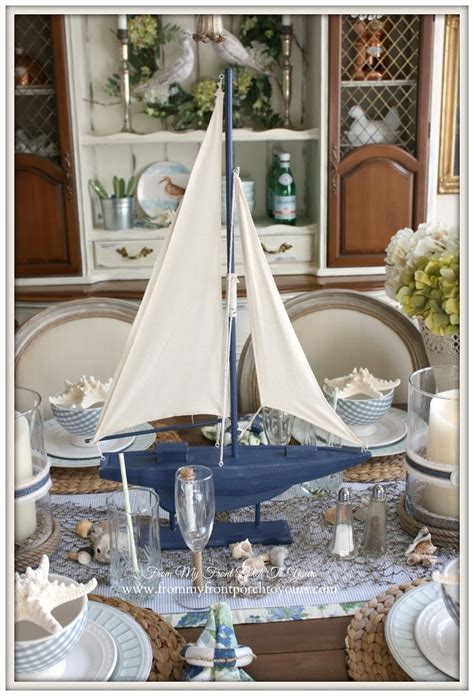 Dining Room Table Summer Centerpieces Best 25 Nautical Dining Rooms Ideas On