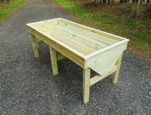 plans for a raised garden planter trough design