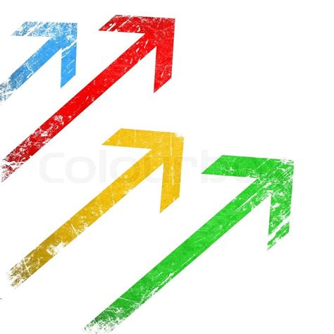 colorful arrow wallpaper grunge colorful arrows on white background stock photo