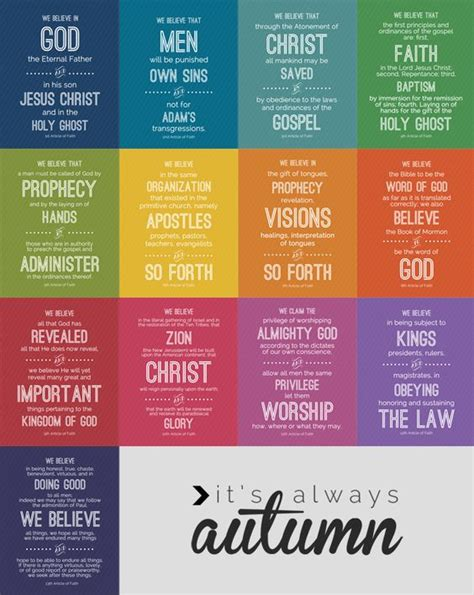printable articles of faith lds articles of faith free printables its always the