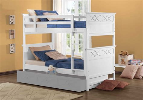 sanibel bedroom collection homelegance sanibel bunk bed white b2119w 1