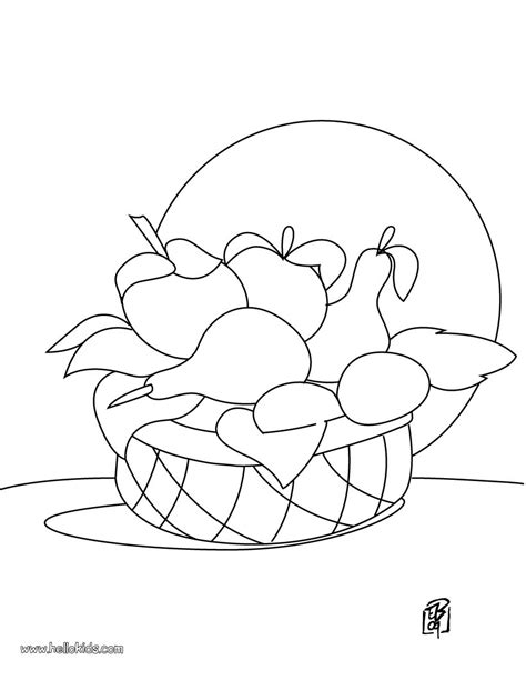 fruit coloring pages fruit basket
