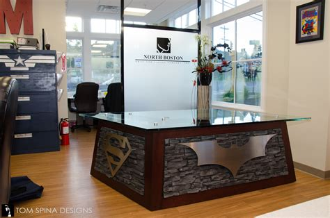 Superhero Desk Themed Reception At Oral Surgeon Office Batman Desk Accessories